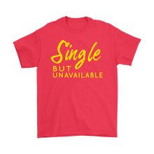 Single but Unavailable Yellow Text Unisex T-shirt
