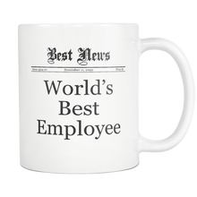 World's Best Employee Vintage Newspaper Inspired Coffee Mug