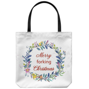 Merry Forking Christmas Tote Bag
