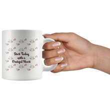 Cats and Flowers Gratitude Quote Mug - Cat Lover Flower Lover Coffee Mug