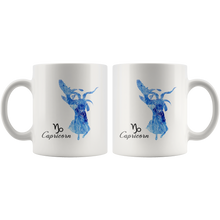 Capricorn Mug: Watercolor Design Capricorn Painting Symbol Coffee Mug - Astrology Horoscope Zodiac Mug - Gift for Capricorn