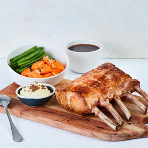 Iberico Pork Rack, Chorizo Mustard Sauce (1.2 - 1.3kg) +2 Side Dishes (For 3 - 4 Persons)