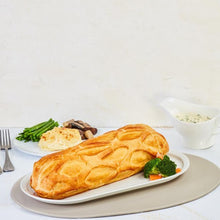 Baked Atlantic Salmon Coulibiac, Chive Cream Sauce (1.8 - 2kg) +2 Side Dishes (For 3 - 4 Persons)