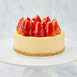 Cheesecake with Fresh Strawberries