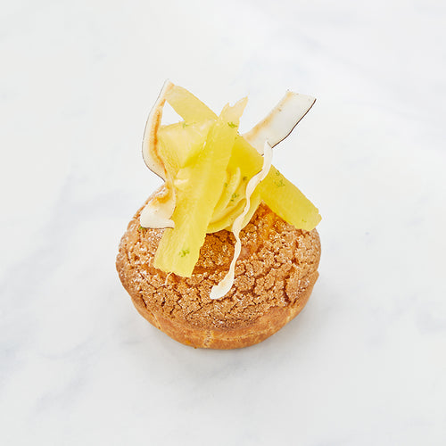 Crispy Choux with Coconut Pastry Cream and Fresh Pineapple