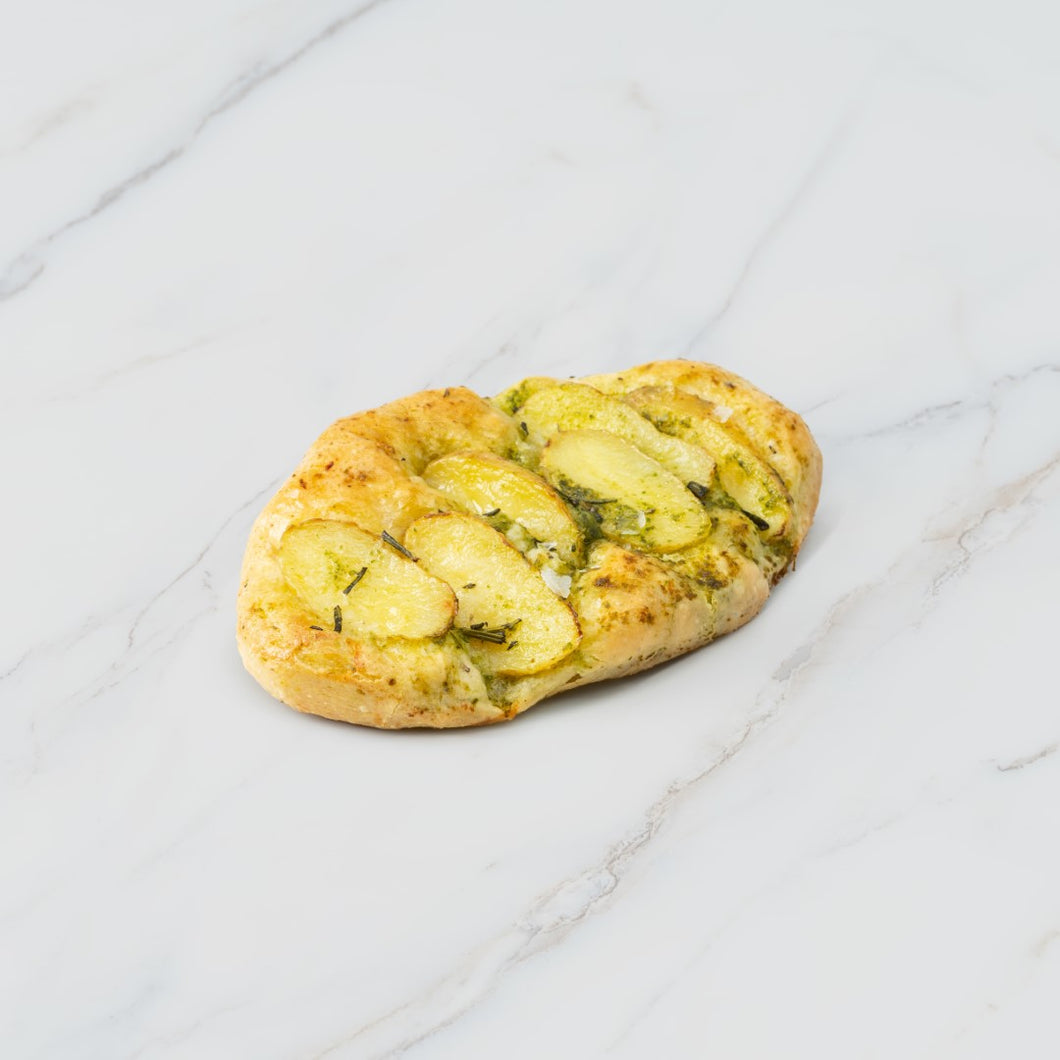New Potato and Pesto Focaccia