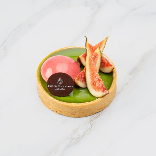 Sicilian Pistachio Tart with Fresh Figs and Red Fruit Crème
