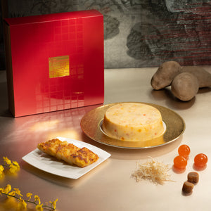 [Early Bird Offer] Lung King Heen Silver Fish Potato Pudding with Conpoy and Salted Egg Yolk - 15% Savings