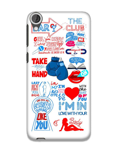 Shape of you - White | HTC 820 Phone Case