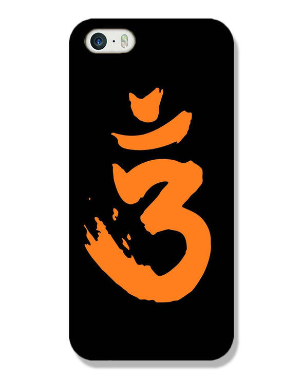 Saffron AUM the un-struck sound | iPhone SE  Phone Case