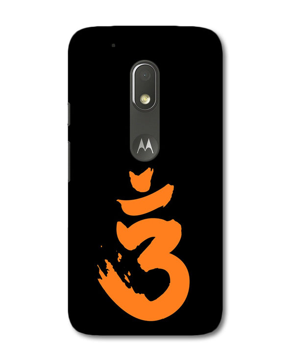 Saffron AUM the un-struck sound | Motorola G4 play  Phone Case