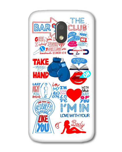 Shape of you - White | Motorola E3 Power Phone Case