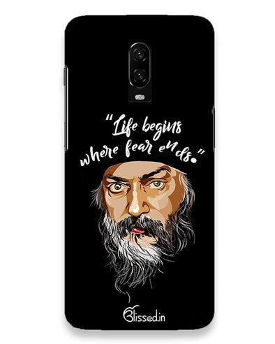 Osho: life and fear  | one plus 6t Phone Case