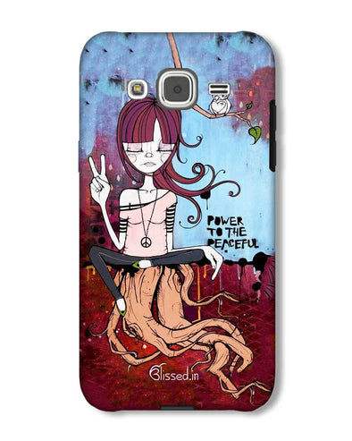 Power to the peaceful | Samsung Galaxy J2  Phone Case