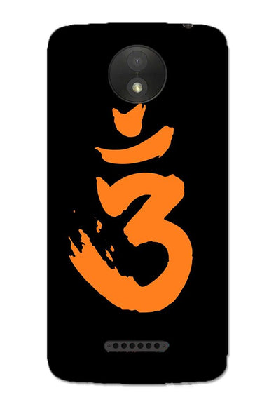 Saffron AUM the un-struck sound | MOTO C Phone Case