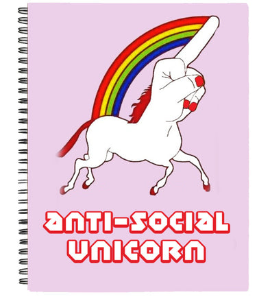Anti-social unicorn notebook | Notebook
