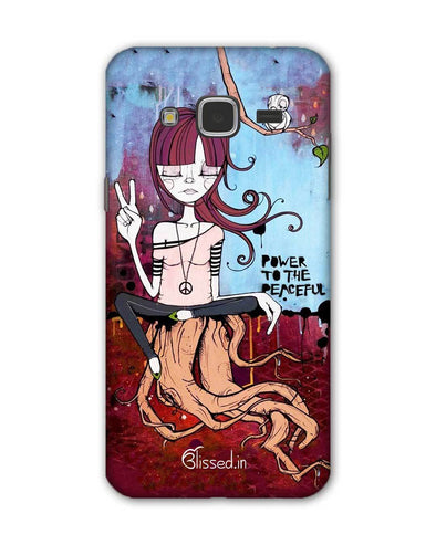 Power to the peaceful | Samsung Galaxy J3 Phone Case