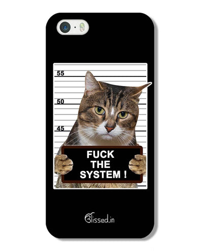 F*CK THE SYSTEM  | iPhone 5 Phone Case