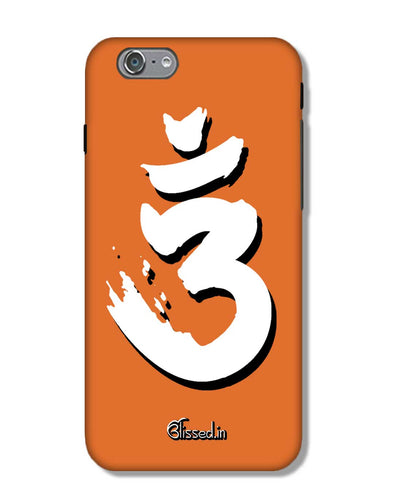 Saffron AUM the un-struck sound White  | iPhone 6 Phone Case