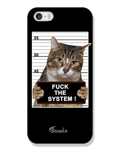 F*CK THE SYSTEM  | iPhone SE Phone Case