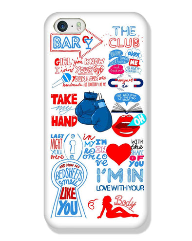 Shape of you - White | iPhone SE Phone Case