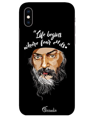 Osho: life and fear  | Iphone xs  Phone Case