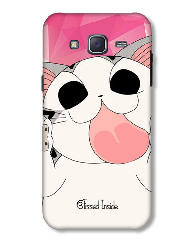 Licking Cat |  samsung Galaxy J5 phone cover