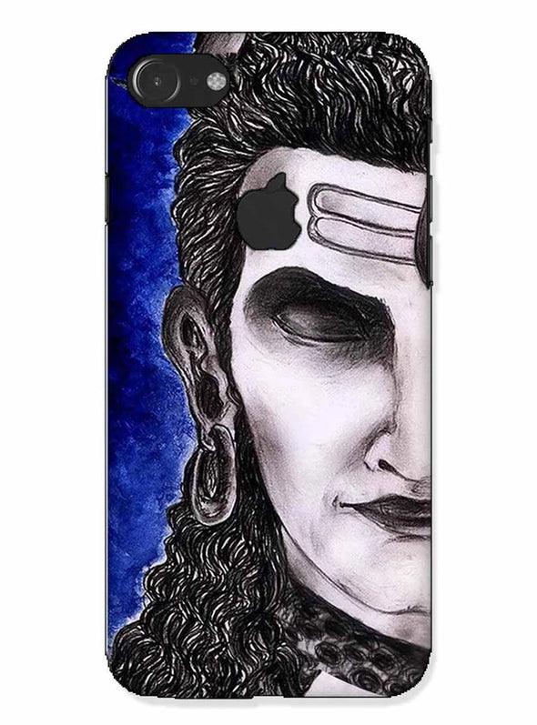 Meditating Shiva | iphone 7 logo cut Phone case