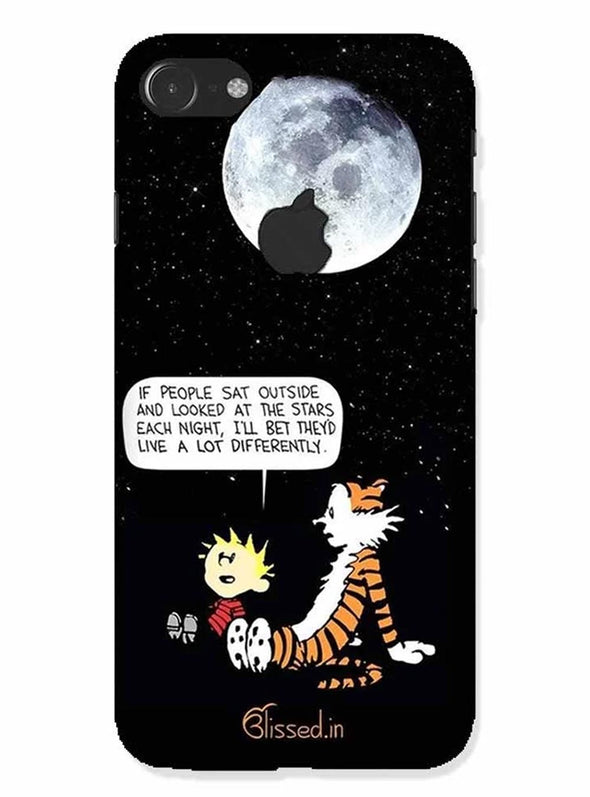 Calvin's Life Wisdom |iphone 7 logo cut Phone Case