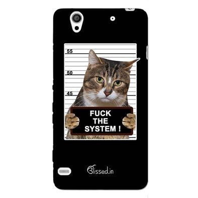 F*CK THE SYSTEM  | SONY XPERIA C4 Phone Case