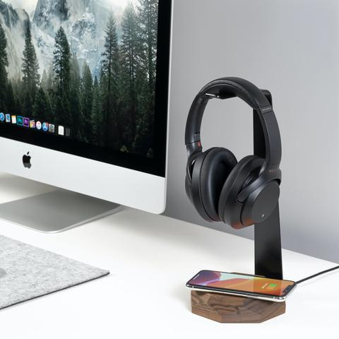 Wooden headphone stands