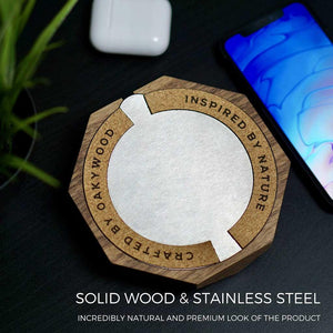 Wooden qi charger