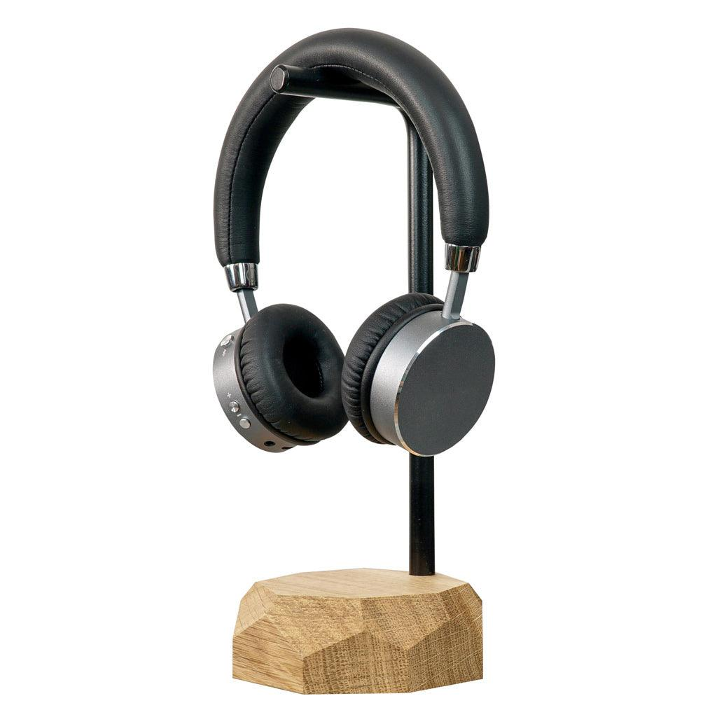 Wooden headphones stand