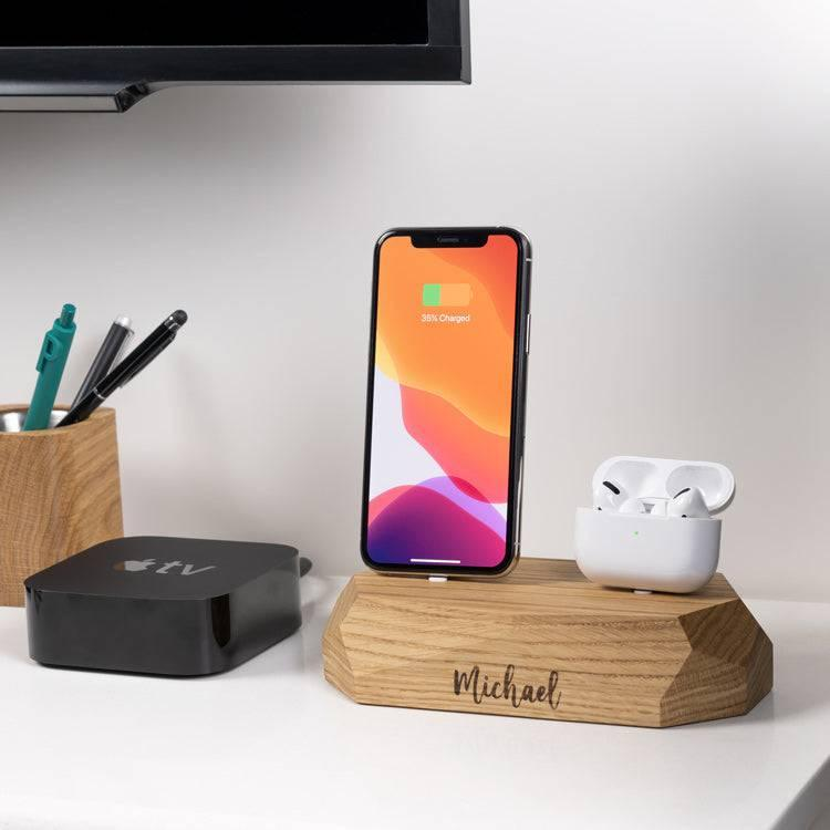 Dual iPhone AirPods dock