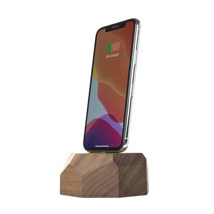 Wooden iPhone lightning dock  |--variant--|  Walnut