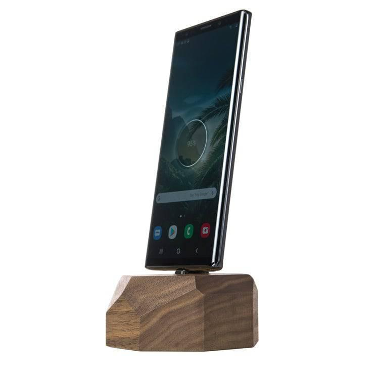 Wooden Samsung charging dock  |--variant--|  Walnut