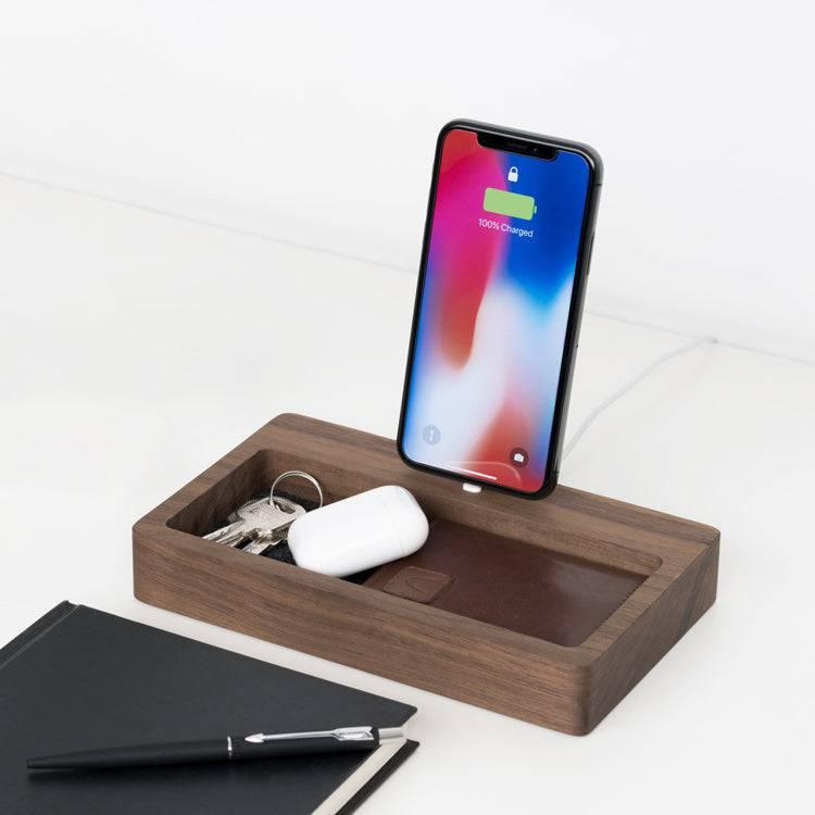 Desk organizer with charger