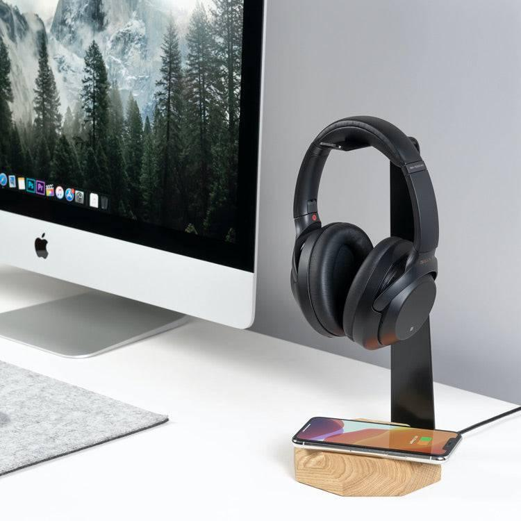 wireless charging headphone stand
