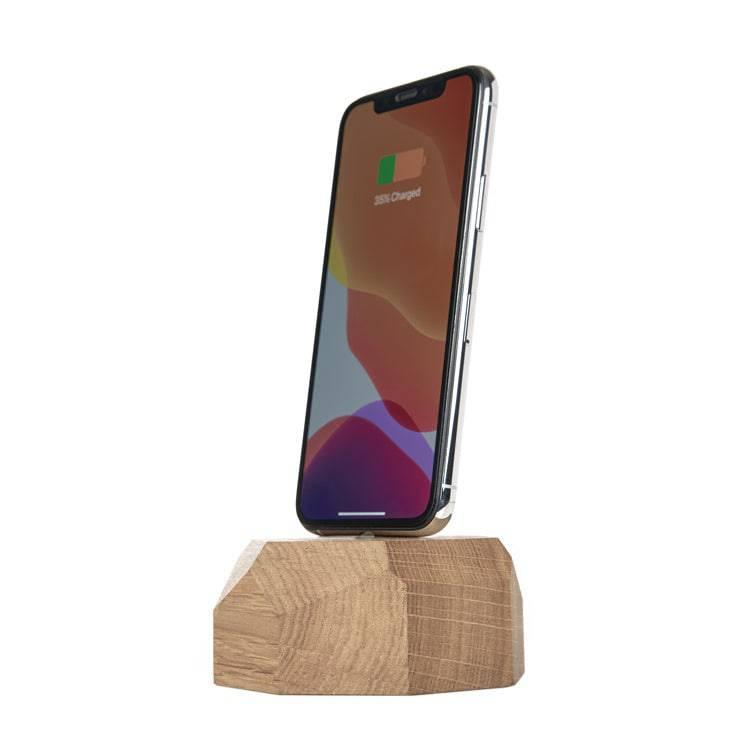 Wooden iPhone lightning dock