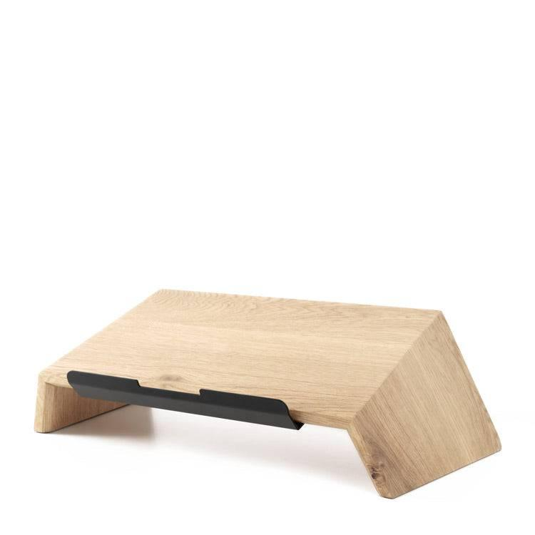 Laptop stand made of wood