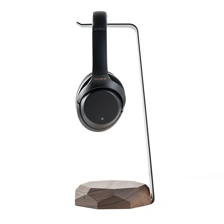 woooden headphone stand with wireless charger