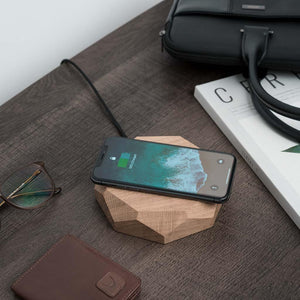iPhone wireless charger made of solid wood