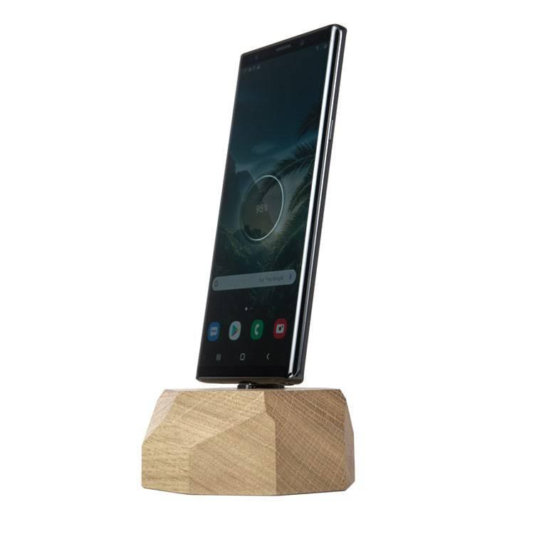 Wooden Samsung charging dock