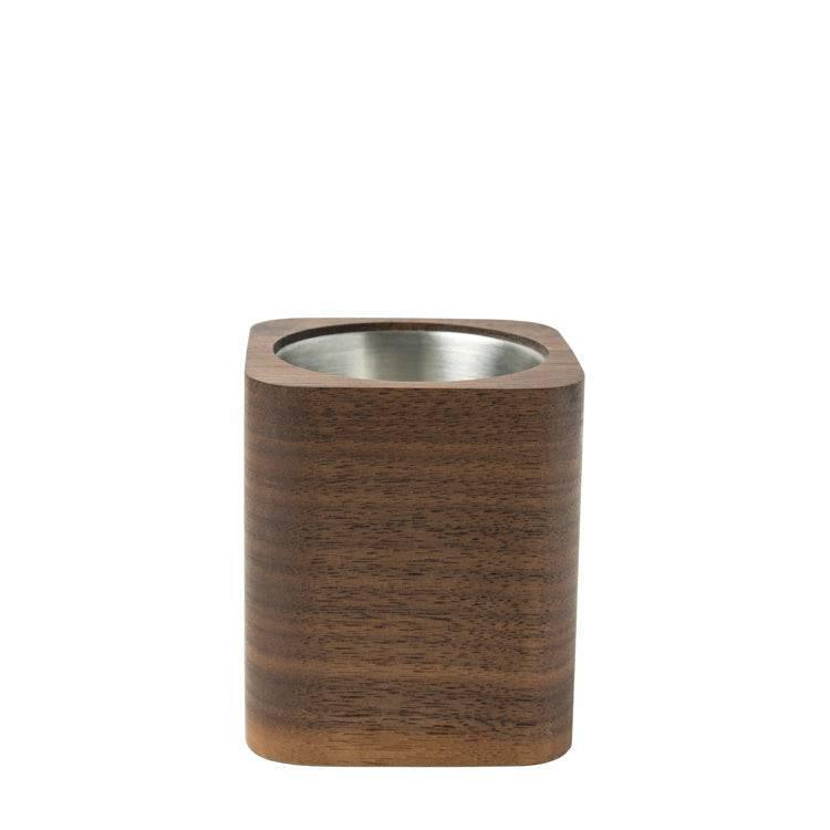 Square Wooden Pencil Cup
