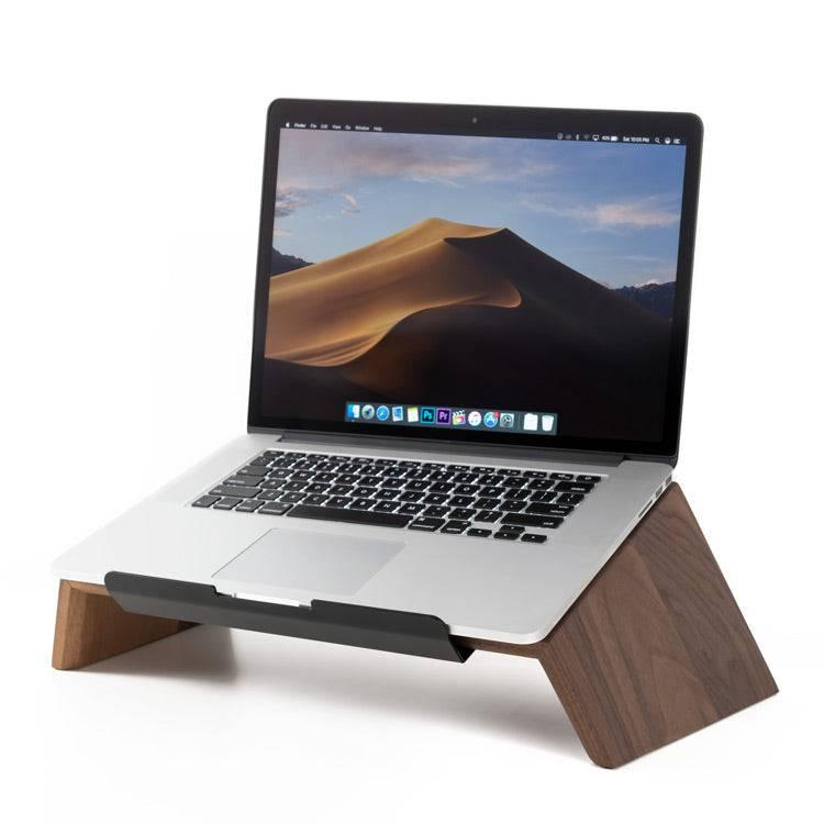 Walnut wood laptop stand