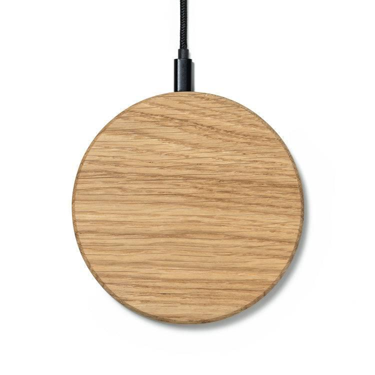 wooden wireless charging station