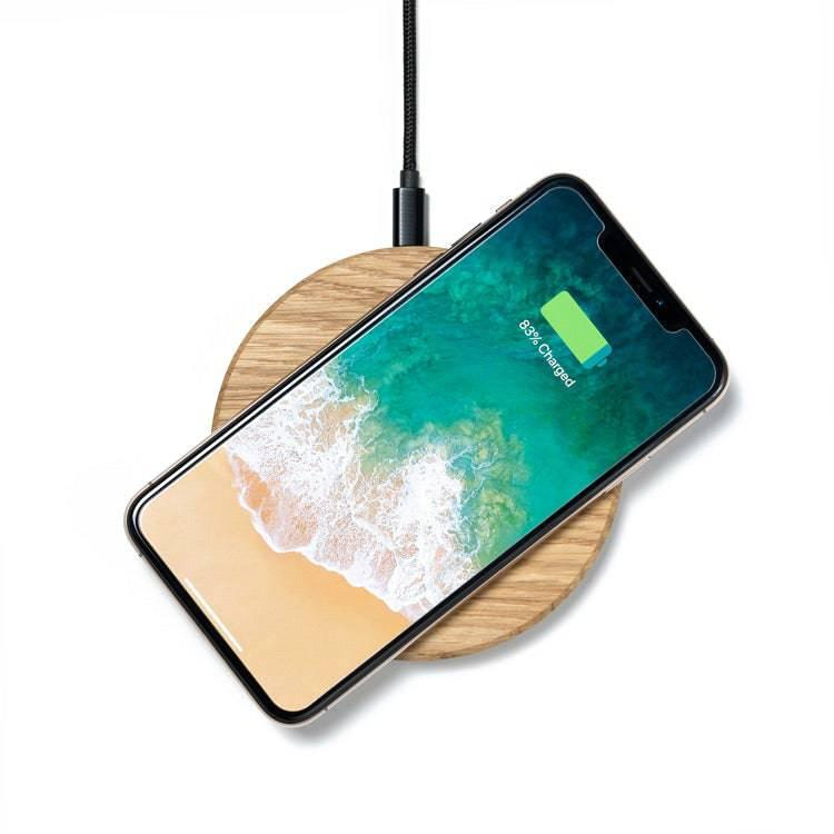 wood wireless charging station