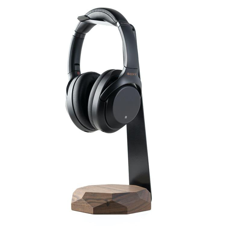 Headphone stand with wireless charger |--variant--| Walnut