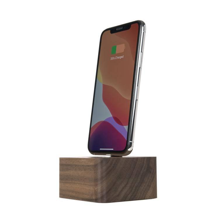 Wooden iPhone charging dock  |--variant--|  Walnut