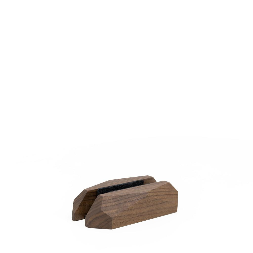 Wooden laptop vertical stand